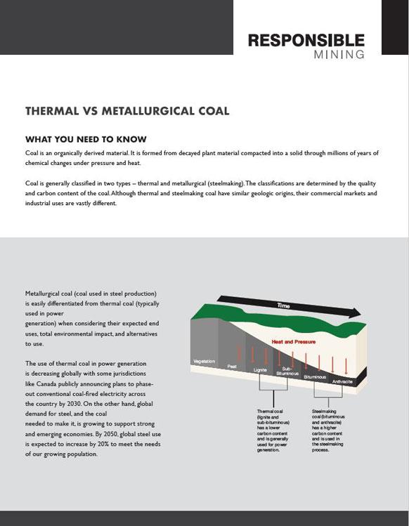 Thermal vs metallurgical coal